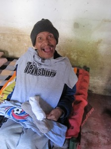 Manuel, very excited about the donations!