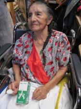 Esther receiving medicine